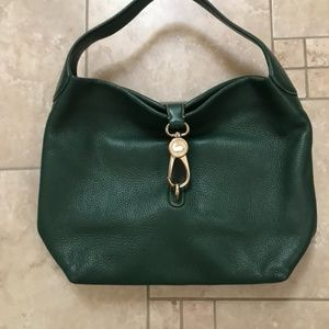 Forest Green Dooney & Burke L Leather Bag w/Sleepe